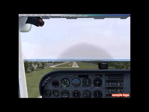 FSX - Cessna 172 ILS Approach Dublin Ireland - Icing Conditions