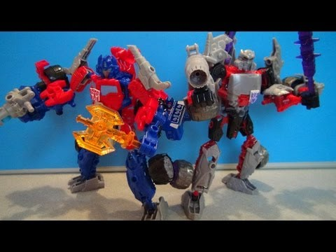 OPTIMUS PRIME AND MEGATRON CONSTRUCT-BOTS TRANSFORMERS ELITE CLASS BUILD SET REVIEW