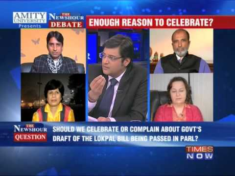 The Newshour Debate: Lokpal:Symbolic or strong? - Full Debate...
