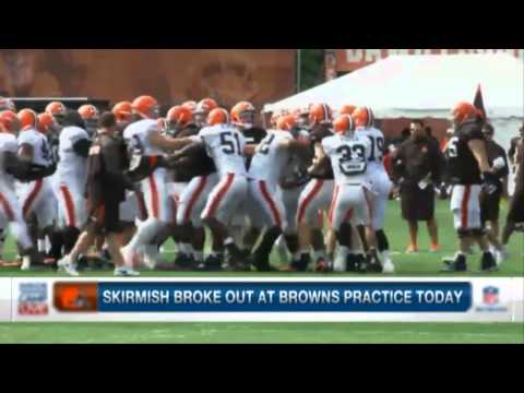 Cleveland Browns Training Camp Fight Image 1