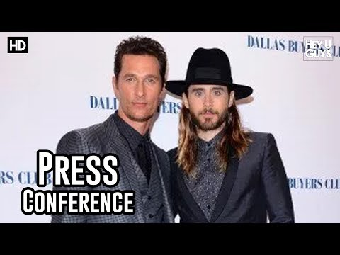 Dallas Buyers Club London Press Conference in Full - Jared Leto & Matthew McConaughey
