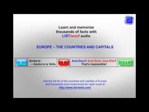 Memorize the countries and capitals of Europe in minutes