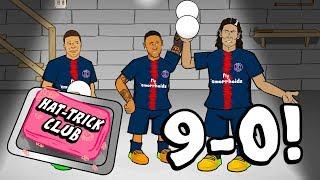 🎬9-0 HAT-TRICK CLUB!🎬 Neymar gatecrashes Hat-Trick Club! (PSG vs Guingamp Parody)
