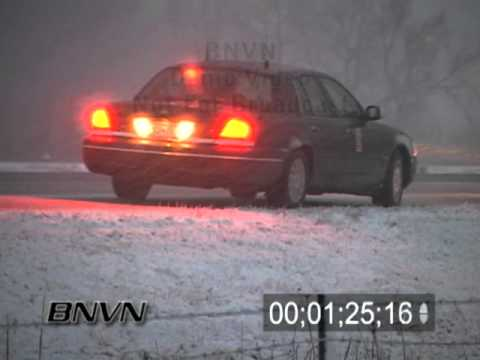 Various Winter Weather Bad Driving Conditions Stock Video Part 8