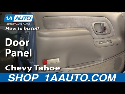 How To Install Replace Door Panel Chevy GMC Pickup Truck or SUV 95-98 - 1AAuto.com