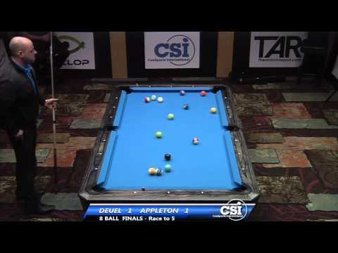 2014 CSI USBTC 8 Ball FINALS Set 1: Corey Deuel vs Darren Appleton