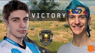 SHROUD & NINJA FIRST EVER DUO WIN IN BLACKOUT (Call Of Duty Battle Royale)