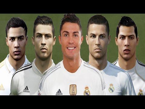 Cristiano RONALDO from FIFA 04 to FIFA 16 (vs Real Face Comparison)