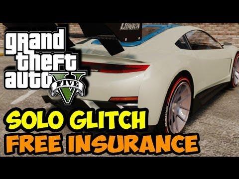 """GTA 5 GLITCH - INSURE ANY DLC CAR FREE! """"SOLO METHOD"""" 1.11 PATCH GLITCH (GTA V EASY CAR INSURANCE)"""
