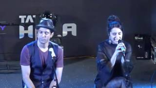 Tere Mere Dil - Rock On 2   Shraddha Kapoor   Live Performance   Rock On 2 Official Trailer Launch