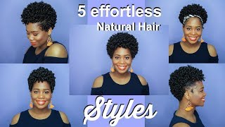 5 Effortless Short Natural Hair Styles for the Mom On The Go | MissKenK