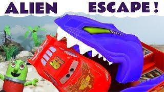 Cars Lightning McQueen Hot Wheels Alien Escape toy story with Superheroes and funny Funlings TT4U