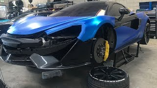 REVEALING MY MCLARENS SATIN CHROME BLUE WRAP! *UNBELIEVABLE*