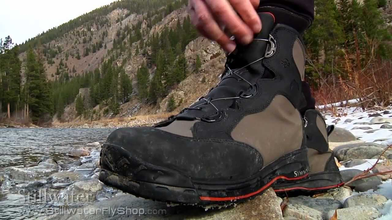 Simms wading boots boa simms rivertek boot from simms for Simms fishing shoes