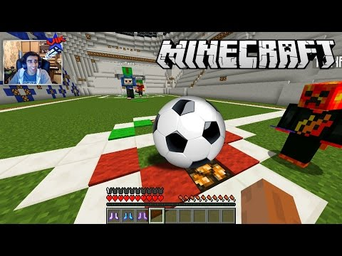 FOOTBALL IN MINECRAFT #1 With The Pack (Soccer)