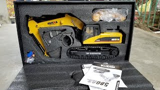 Unboxing toys kids | RC Excavator Huina 580 | Excavator videos for children