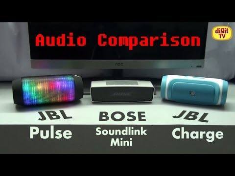 Bluetooth Speakers Comparison - JBL Pulse vs Bose Soundlink Mini vs JBL Charge