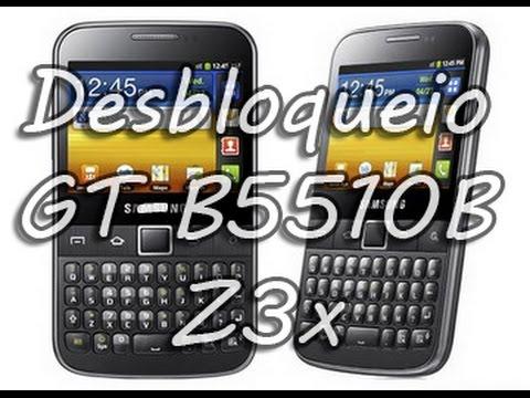 GT-B5510B Desbloqueio   Unlock B5510B   Z3x BOX   Samsung Galaxy Y Pro