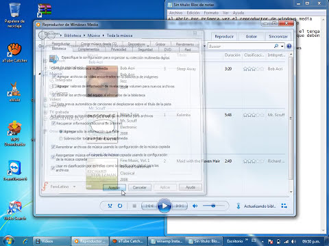 Reproductor de Windows Media Configurar