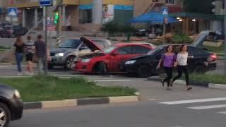 В Солнечном перекресток не поделили «Приора» и Chevrolet