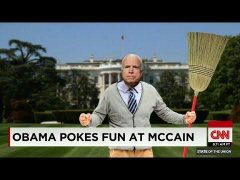 Obama pokes fun at McCain at 2015 WHCD