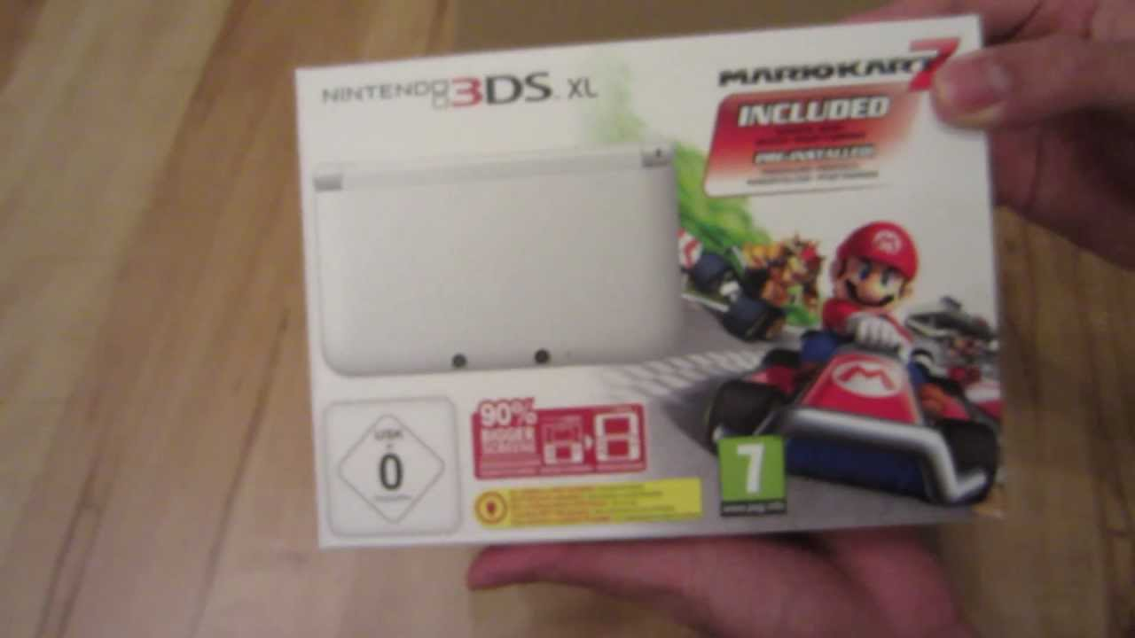 Nintendo 3ds xl white bundle mario kart 7 unboxing video review youtube - Console 3ds xl blanche avec mario kart 7 ...