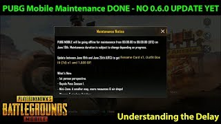 PUBG Mobile Maintenance DONE - NO 0.6.0 Global Update YET - Estimated 36-48 Hours until UPDATE
