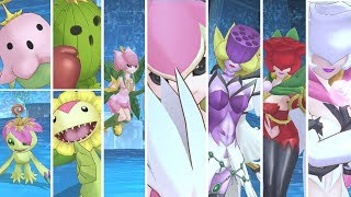 Digimon Story : Cyber Sleuth Hacker's Memory - Palmon & Lalamon Digivolution Line & Special Attacks