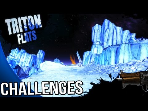 Borderlands The Pre Sequel - Triton Flats Challenges - Symbols, Killing Time, Leap of Faith, ECHOES