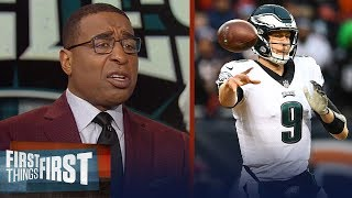 Cris Carter says Foles has to outduel Brees to have a chance in The Dome | NFL | FIRST THINGS FIRST