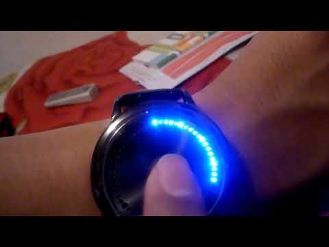 Configuraci�n Reloj LED azul