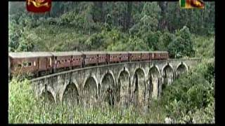Sri Lanka Rail road Udarata Manike on Rupavahini Bandarawela to Demodara