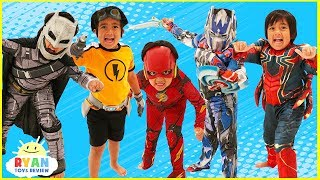 Kids Costume Runway Show Pretend Play with Disney Superheroes, Pj Masks, Rusty Rivets!