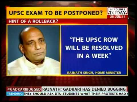 Rajnath Singh vows to resolve UPSC row within a week