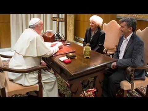 El Papa recibió a Estela de Carlotto y a su nieto Ignacio Guido en el Vaticano