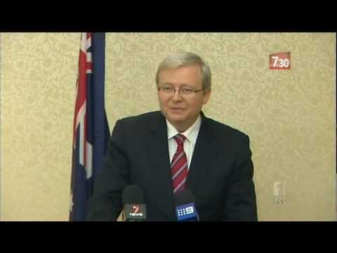 Kevin Rudd resigns as Australian Foreign Minister - ABC 7.30 (22/2/2012)