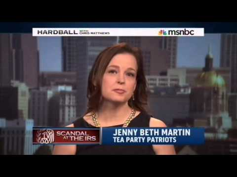 MSNBC Hardball Features Jenny Beth Martin of Tea Party Patriots on Unfolding IRS Scandal