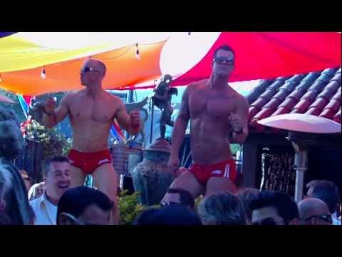 Hunky Stripper Studs...at the Abbey on Gay Pride Parade Day! WeHo (2012)