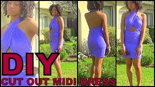 DIY Cut Out Midi Dress