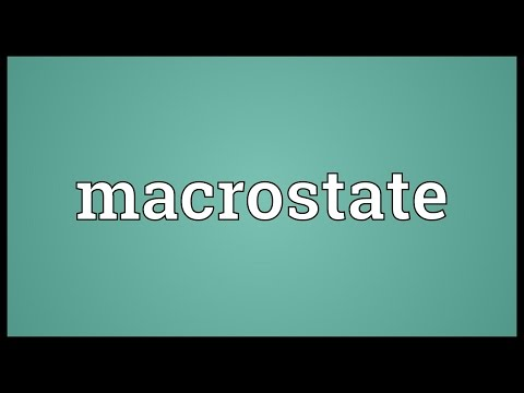 Header of Macrostate