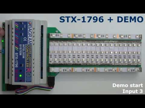 Stairs Lighting Controller color RGB - STX-1796 with DEMO function.