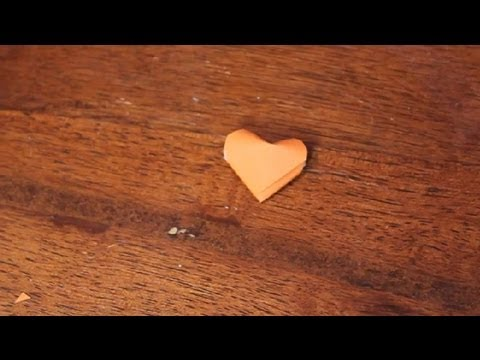 How to Fold Paper Strips Into Small Hearts : Paper Folding Projects