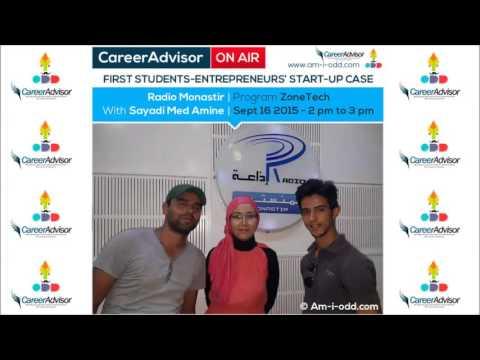 CareerAdvisor's Team On Air – program Zone Tech – Radio Monastir, Tunisia