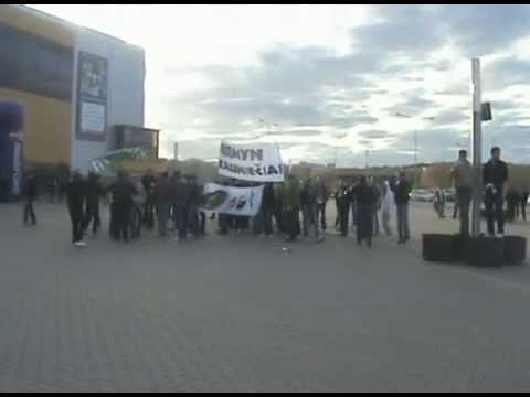 Kauno Žalgirio fanų eisena Vilniuje | 2010-04-24