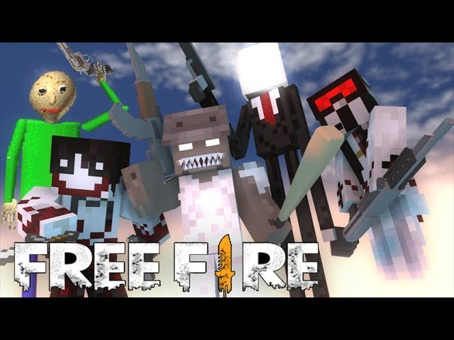 Monster School : Free Fire Baldi's Granny Grandpa Slenderman Slendrina Jeff