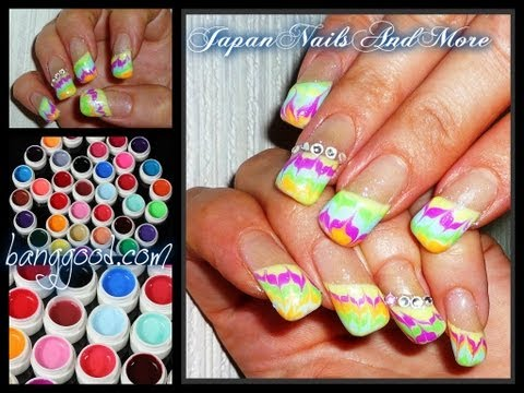 Color Gels Review and Gel Nail Design Banggood.com