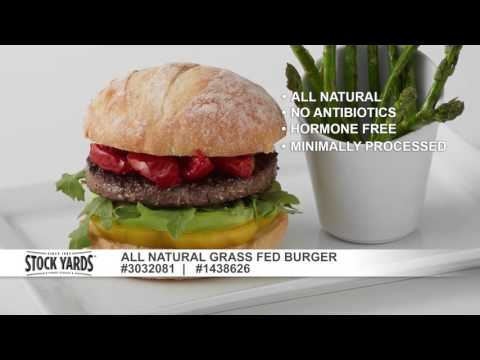 US Foods® Stock Yards® All Natural Grass Fed Burger