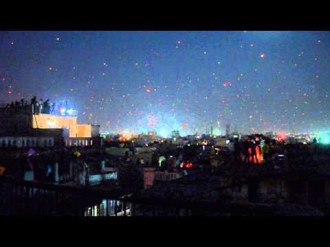 Ahmedabad (India) Kite Festival, 2014 - Day to night