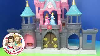 Disney Princess Play Castle Toys   Cinderella & Aurora   C Kavala Magic clip