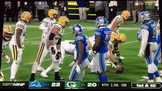 Lions vs Packers - Blown Call Costs Lions 2nd Game This Season - Monday Night Football